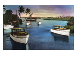 Boca Raton  Florida - Deep Sea Fishing Fleet Scene
