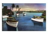 Boca Raton  Florida - Deep Sea Fishing Fleet Scene
