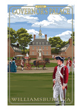 Williamsburg  Virginia - Governor's Palace in Spring