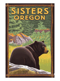 Sisters  Oregon - Bear in Forest