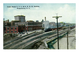 Watertown  New York - New York Central and Hudson River Rail Station Sheds