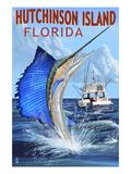 Hutchinson Island   Florida - Sailfish Fishing Scene