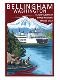 Bellingham  Washington - Ferry Scene