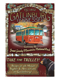 Gatlinburg  Tennessee - Trolley