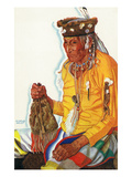 Portrait of Lazy Boy  a Blackfeet Medicine Man
