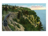 Lake Champlain  New York - Delaware and Hudson River Train Along Lake