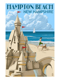 Hampton Beach  New Hampshire - Sand Castle