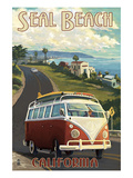 Seal Beach  California - VW Van Cruise