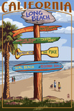 Long Beach  California - Destination Sign