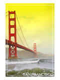 San Francisco  California - Golden Gate Bridge Yellow Sky