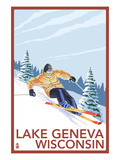 Lake Geneva  Wisconsin - Downhill Skier