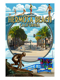 Hermosa Beach  California - Montage Scenes