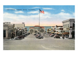 Hermosa Beach  California - View of Pier Avenue