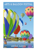 Lincoln  Illinois - Illinois Arts and Balloon Festival - Hot Air Balloons