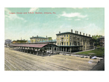 Altoona  Pennsylvania - Logan House and Pa Railroad Station Views