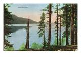 Lake Tahoe  California - View of Fallen Leaf Lake