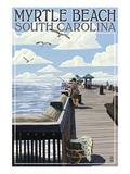 Myrtle Beach  South Carolina - Pier Scene