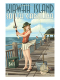 Kiawah Island  South Carolina - Pinup Girl Fishing