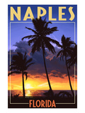 Naples  Florida - Palms and Sunset