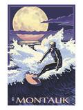Montauk  New York - Night Surfer