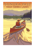 High Sierra Lakes - Sonora Pass  California - Canoe Scene - Lantern
