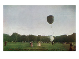 Sioux City  Iowa - Riverside Park  Balloon Ascension Scene