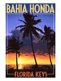 Bahia Honda  Florida Keys - Palms and Sunset