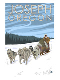 Joseph  Oregon - Dog Sled Scene