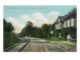 Pen Mar  Pennsylvania - View of the Post Office and Railroad Depot
