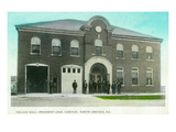 North Chicago  Illinois - Village Hall Fire Station View