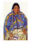 Portrait of Julia-Wades-In-The-Water  Wife to Blackfeet Chief