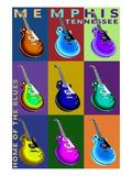 Memphis  Tennessee - Guitar Pop Art
