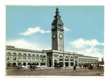 San Francisco  California - Exterior View of the Ferry Building with Clocktower