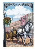 Savannah  Georgia - Horse and Carriage
