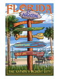 St Augustine  Florida - Sign Destinations
