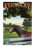 Kentucky - Thoroughbred Horses Farm Scene
