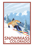 Snowmass  Colorado - Downhill Skier