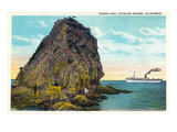 Santa Catalina Island  California - Sugar Loaf View of a Ship