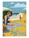 Seal Beach  California - Woman on the Beach