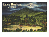 Lake Burton  Georgia - Moonlit Scene