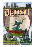 Detroit  Michigan - Montage Scenes