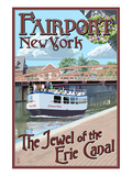 Fairport  New York - Erie Canal Scene