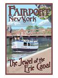 Fairport  New York - Erie Canal Scene