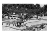Hollywood  California - Bernheimer Residence  Replica of Battle for Castle of Nagoya Photo