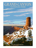 Grand Canyon National Park - Watchtower and Snow
