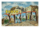 Greetings from South Dakota - Large Letter Scenes