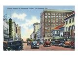 St Petersburg  Florida - Central Avenue Scene