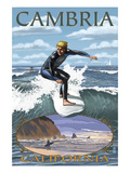Cambria  California - Surfer Scene