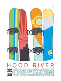 Hood River  Oregon - Snowboards in Snow