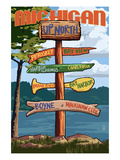 Up North  Michigan - Sign Destinations